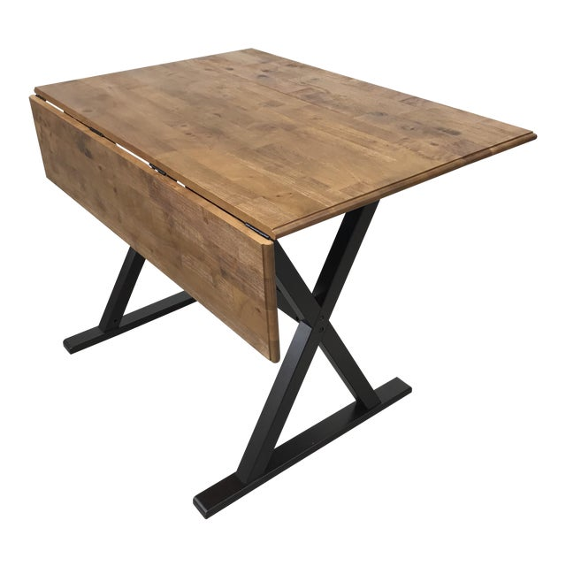 Drop Leaf X Base Table - Image 1 of 5