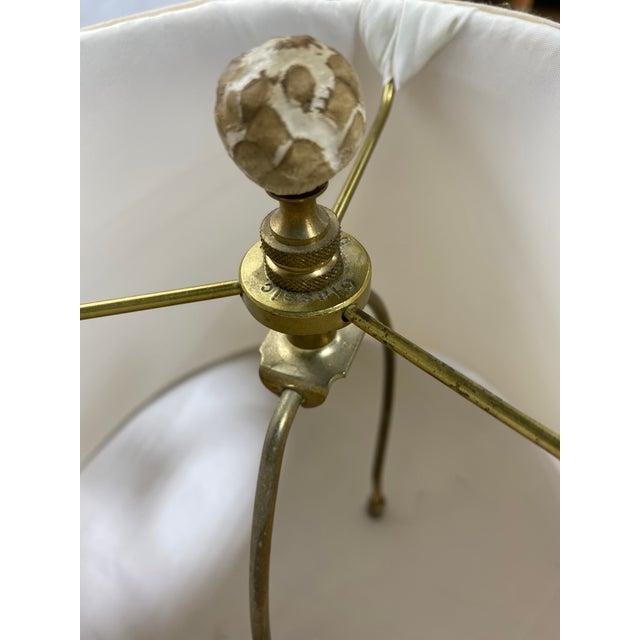 Alabaster Vintage Cinnabar Ginger Jar Petite Lamps For Sale - Image 8 of 13