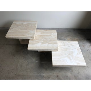 Vintage Modern Travertine Nesting Tables - Set of 3 Preview