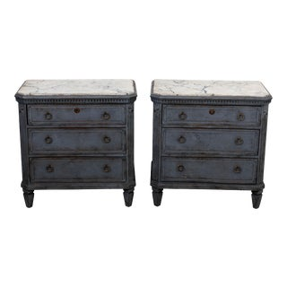Late 19th Century Gustavian Style Chests of Drawers - a Pair For Sale