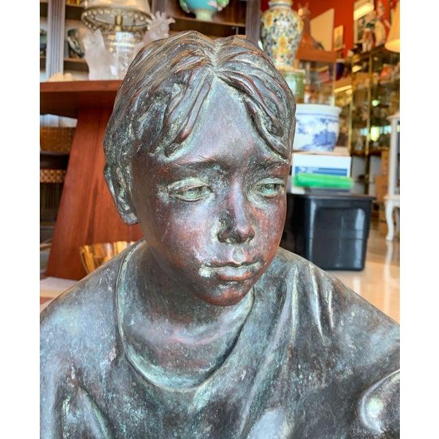 "Susanne Vertel ""Dream Catcher"" Bronze Statue For Sale - Image 11 of 11"