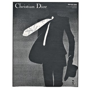 Matted Dior Fashion Print- Men's Suit & Tie by Gruau For Sale
