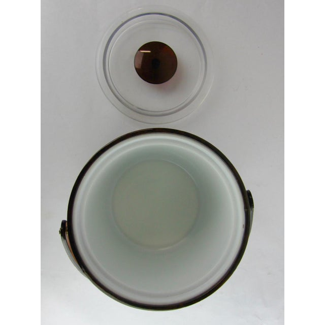 1960s Vintage Georges Briard Tortoise Finish Ice Bucket For Sale - Image 5 of 9