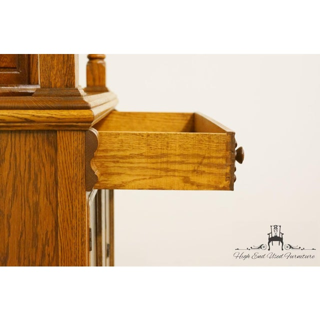 1920's Antique Jacobean Gothic Revival Solid Oak Cupboard For Sale - Image 9 of 13