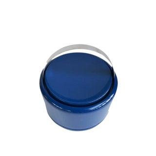 Vintage Danish Modern Cobalt Blue Ice Bucket For Sale