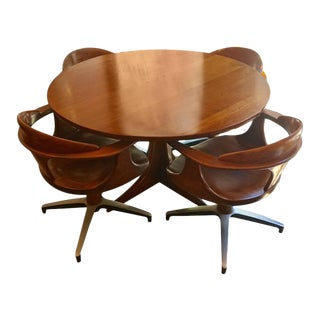 1960s Heywood Wakefield Cliff House Table and Chairs - Set of 5 For Sale