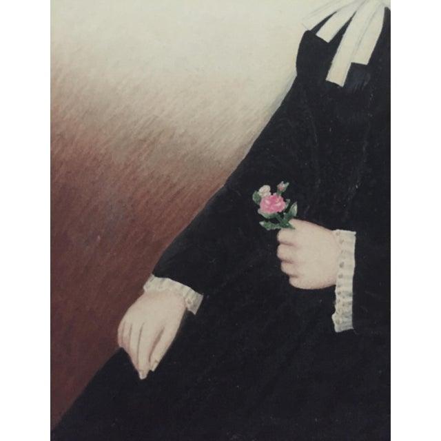 1845 Miniature American Folk Art Portrait - Image 5 of 7