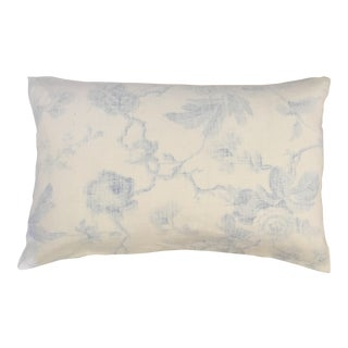 "Brunschwig Et Fils Pale Blue Floral Toile Pillow Case - 16"" X 24"""