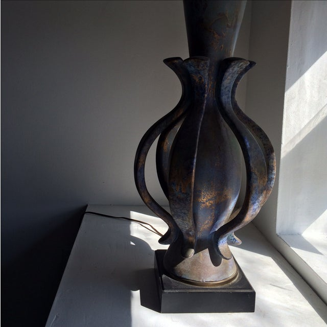 Ceramic TYE of California Brown Ceramic Table Lamp For Sale - Image 7 of 11
