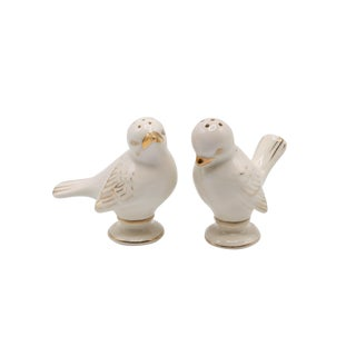 Japanese Porcelain Dove Salt & Pepper Shakers For Sale