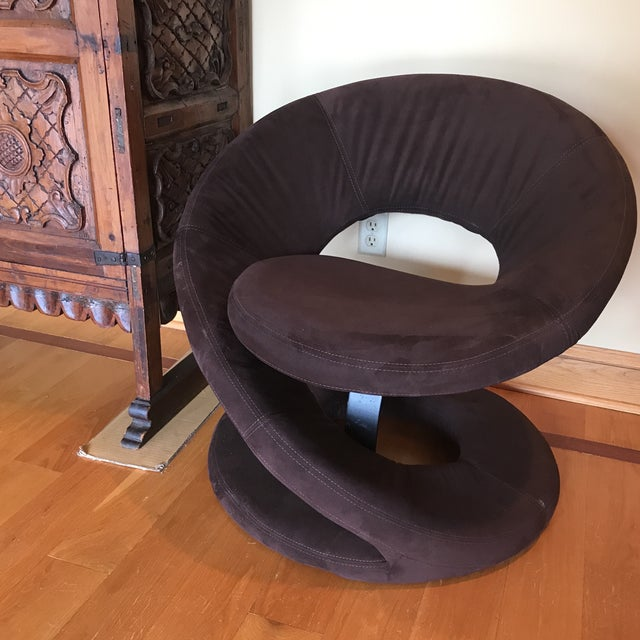 Mid Century Hollywood Regency Swirl Chair For Sale - Image 4 of 5