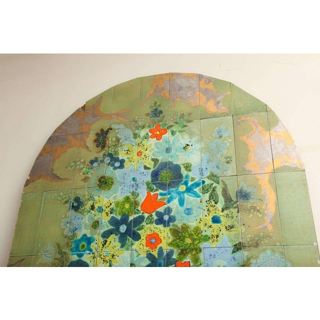 Italian Hand-Painted Tile Panel from the Lobby of the Hilton Plaza, Miami Beach For Sale In Miami - Image 6 of 10