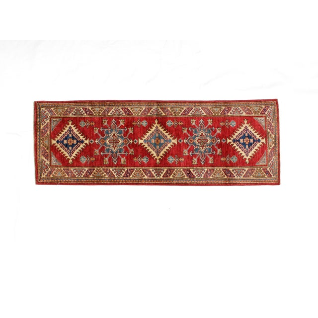 Ghazni wool pile hand made very fine Super Kazak in mint condition.