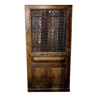 Late 19th Century Antique French Oak Door, Circa 1870 For Sale
