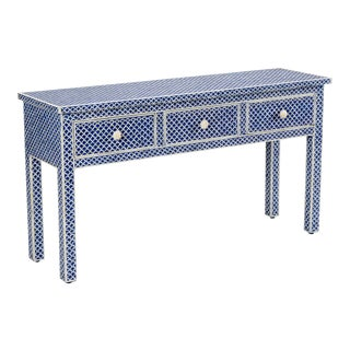 New London Console Table in Blue For Sale