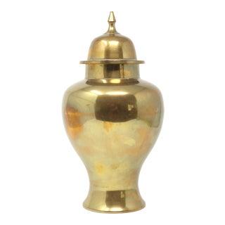 Vintage Brass Ginger Jar For Sale
