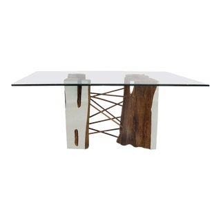 Brazilian Reclaimed Guaranta Wood Table Base from the Amazon by Valeria Totti