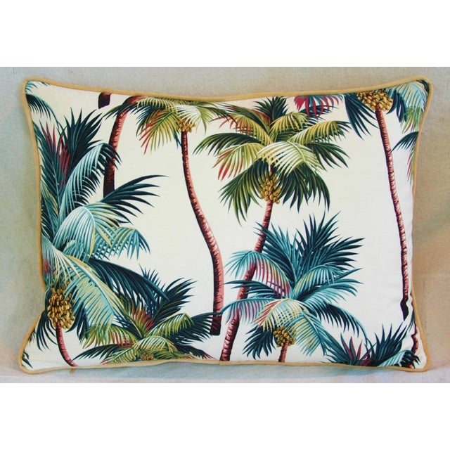 Designer Tropical Coconut Palm Tree Pillows - Pair - Image 6 of 10
