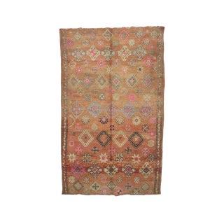 "Boujad Vintage Moroccan Rug - 6'4"" X 10'2"" For Sale"