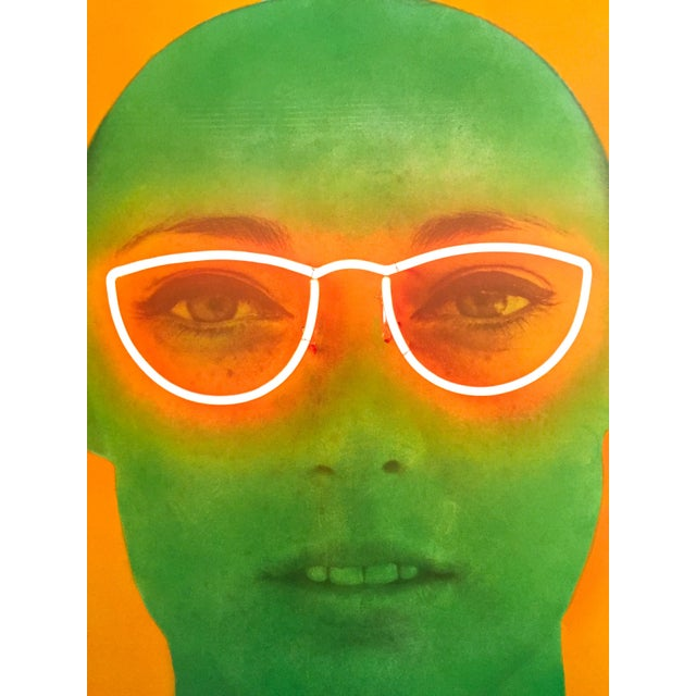 """White Martial Raysee Moderna Museet Stockholm Lithograph Print Pop Art Poster """" France Verte """" 1964 For Sale - Image 8 of 13"""