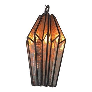 Distressed Glass Pendant Light