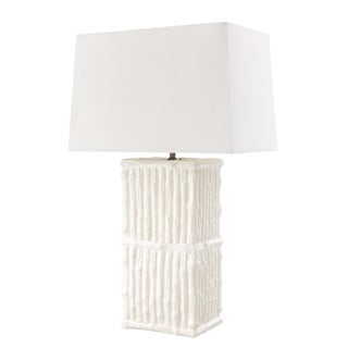 Sagano White Ceramic Table Lamp For Sale