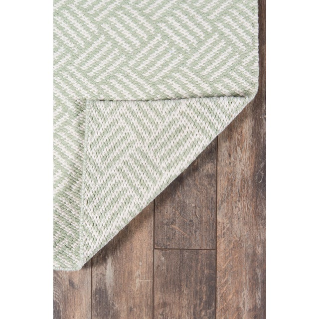 "2010s Madcap Cottage Baileys Beach Beach Club Green Indoor/Outdoor Area Rug 3'6"" X 5'6"" For Sale - Image 5 of 7"