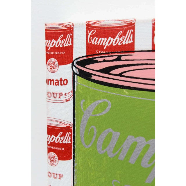 Canvas Series of 3 Steve Kaufman Campbell's Soup Cans, 20th Century For Sale - Image 7 of 10