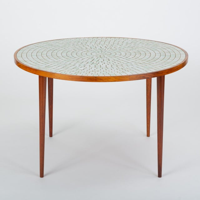 Arts & Crafts Tile-Top Walnut Dining Table by Gordon & Jane Martz for Marshall Studios For Sale - Image 3 of 13