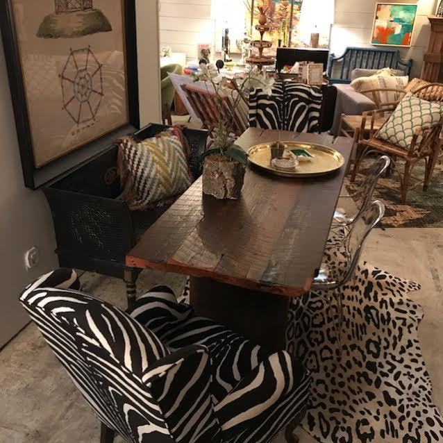 Vintage Zebra Wingback Chairs   A Pair   Image 5 Of 8