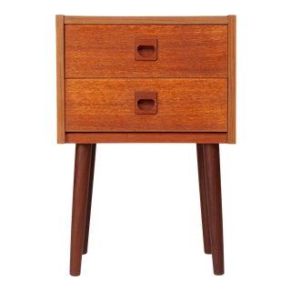 Vintage Danish Mid-Century Teak Bedside Table For Sale