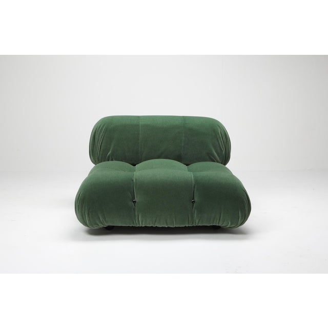 1970s Mario Bellini Camaleonda Lounge Chair in Pierre Frey Mohair For Sale - Image 6 of 9