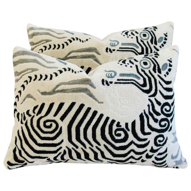 Clarence House Tibet Dragon Fabric Pillows - Pair - Image 1 of 11