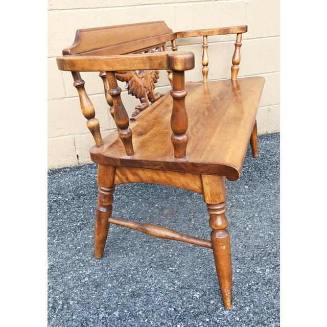 Strange Vintage Cushman Colonial Carved Eagle Settee Bench Interior Design Ideas Clesiryabchikinfo