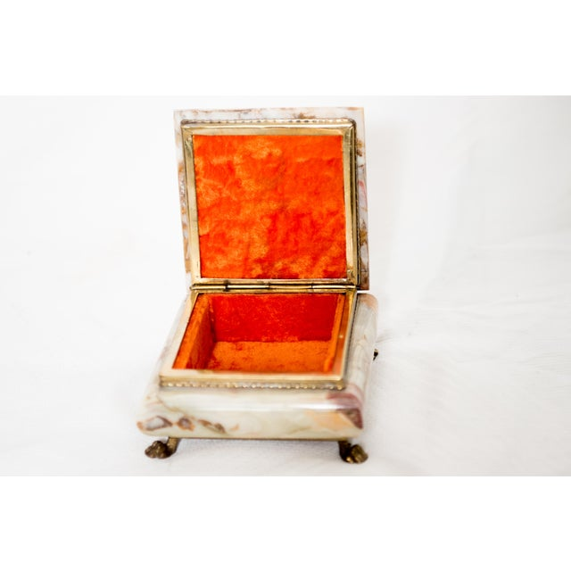Italian Marble Onyx Trinket Box For Sale - Image 4 of 6