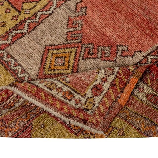 Vintage Red Turkish Area Rug 3'x3' For Sale - Image 4 of 5