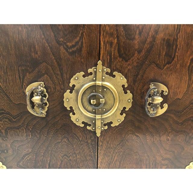 Antique Korean Wooden Credenza For Sale - Image 4 of 6