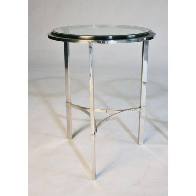 1970s Maison Jansen Style Steel Side Tables For Sale - Image 5 of 12