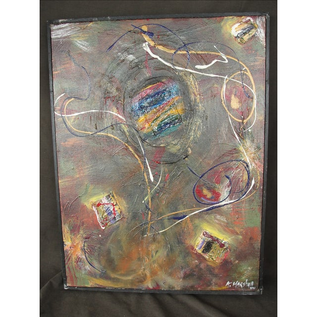 Abstract Mixed Media Painting by A. Marshall - Image 2 of 8