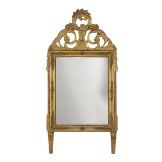 French 19th Century Louis XVI Style Gilt Mirror For Sale