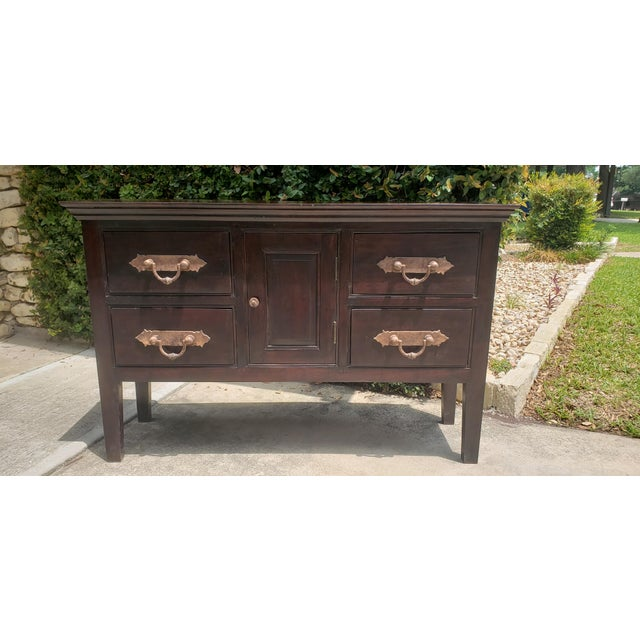 Vintage Asian Indian Sideboard For Sale In San Antonio - Image 6 of 6