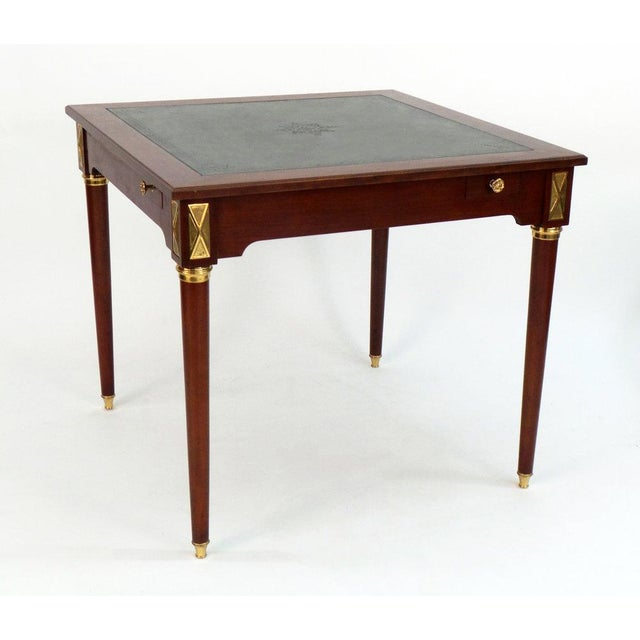Frederick P. Victoria & Son, Inc. Louis XVI Style Game Table For Sale - Image 4 of 7