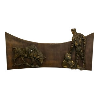 Mid-Century Bull and Matador Wall Hanging by Finesse For Sale