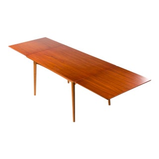 1950s Danish Teak Dining Table - With Hidden Extensions For Sale