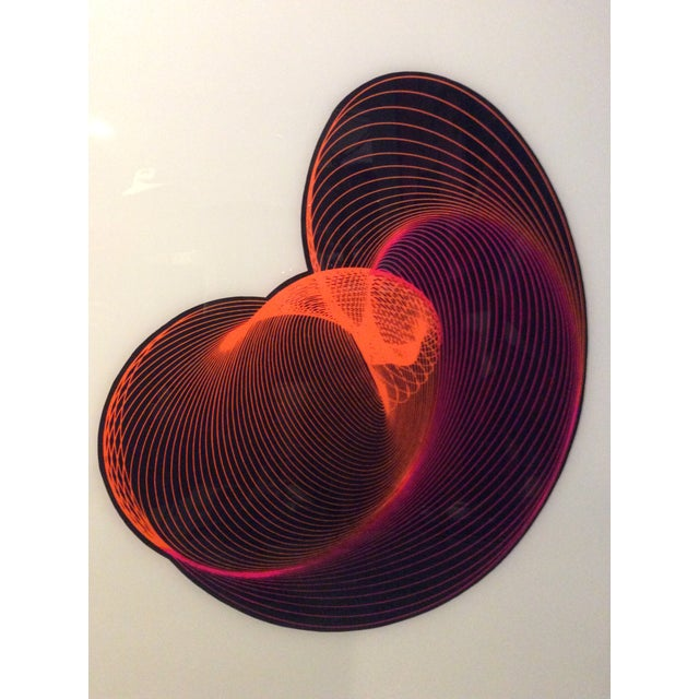 Mid-Century Modern Op Art Spirograph Painting - Image 3 of 10