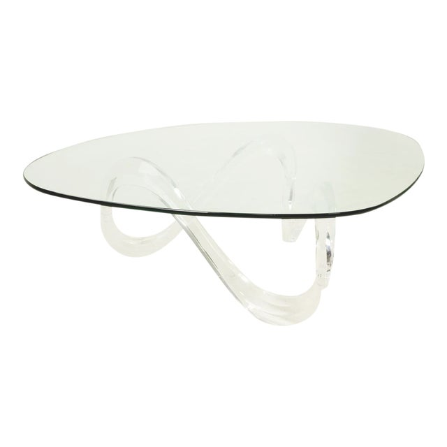 Knut Hesterberg Lucite Noguchi Style Coffee Table For Sale