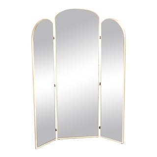 White Arched Floor Mirror by Rougier
