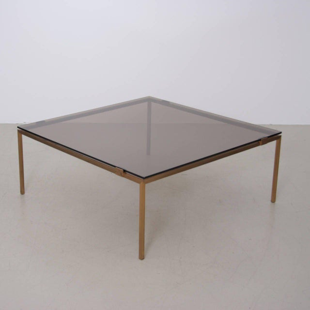 Elegant Brass and Glass Coffee Table in the Manner of Maison Jansen For Sale - Image 6 of 6