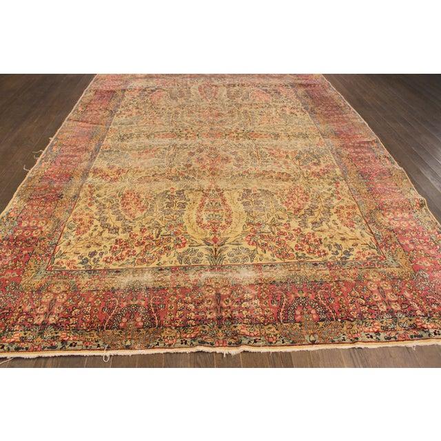 "Apadana Antique Persian Kerman Rug - 7' x 9'11"" For Sale - Image 5 of 9"