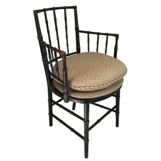 19th Century Chinoiserie Faux Bamboo Armchairs- A Pair Preview